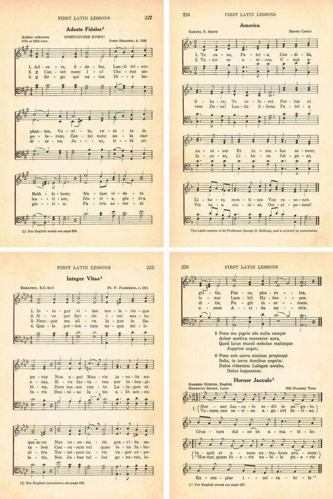 First Latin Lessons Hymns Collage