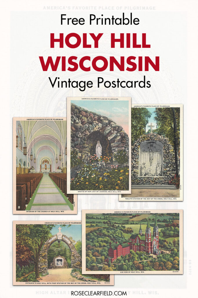 Free Printable Holy Hill Wisconsin Vintage Postcards