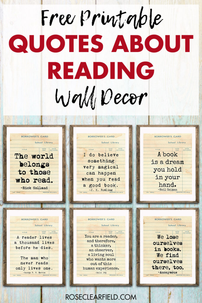 Free Printable Quotes About Reading Wall Decor