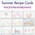 Free Printable Summer Recipe Cards