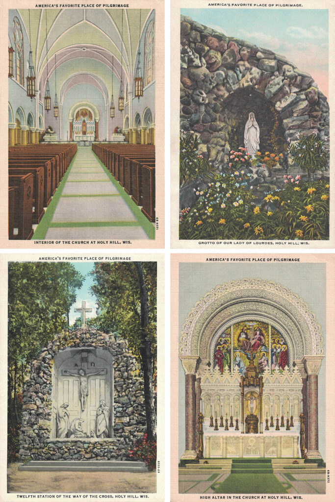 Free Printable Vintage Holy Hill Postcards Collage