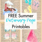 Free Summer Dictionary Page Printables