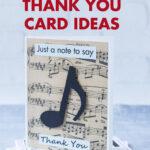 Homemade Music Teacher Thank You Card Ideas