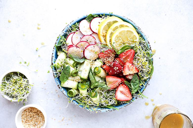 Honey Miso Summer Salad Bowls Floating Kitchen