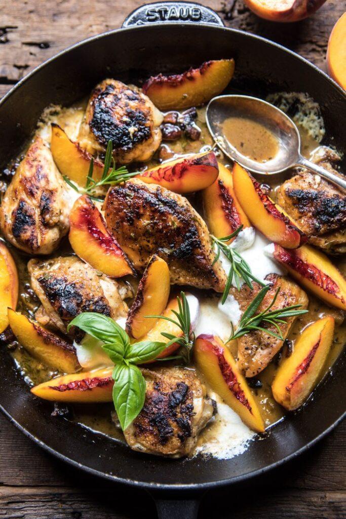 Rosemary Peach Chicken Half Baked Harvest