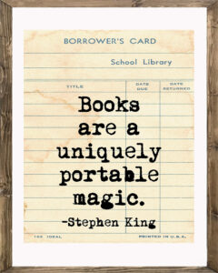 School Library Card Books are a Uniquely Portable Magic Framed