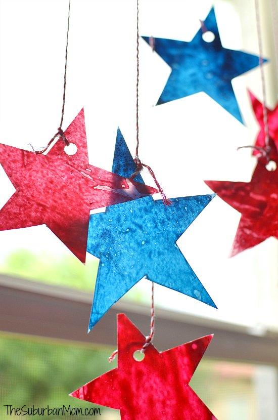 Star Sun Catchers 4th of July Craft The Suburban Mom