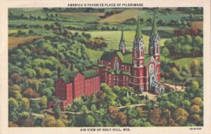 Vintage Postcard Holy Hill Air View
