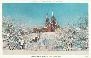 Vintage Postcard Holy Hill In Winter