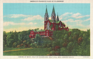 Vintage Postcard Holy Hill Looking South