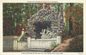 Vintage Postcard Holy Hill Ninth Station of the Way of the Cross