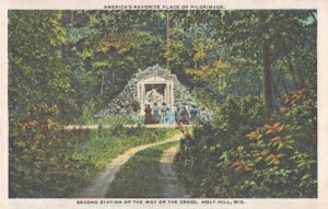 Vintage Postcard Holy Hill Second Station of the Way of the Cross