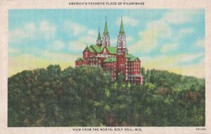 Vintage Postcard Holy Hill View From the North