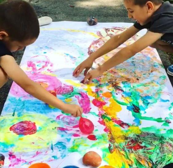 Water Balloon Painting Raising Dragons