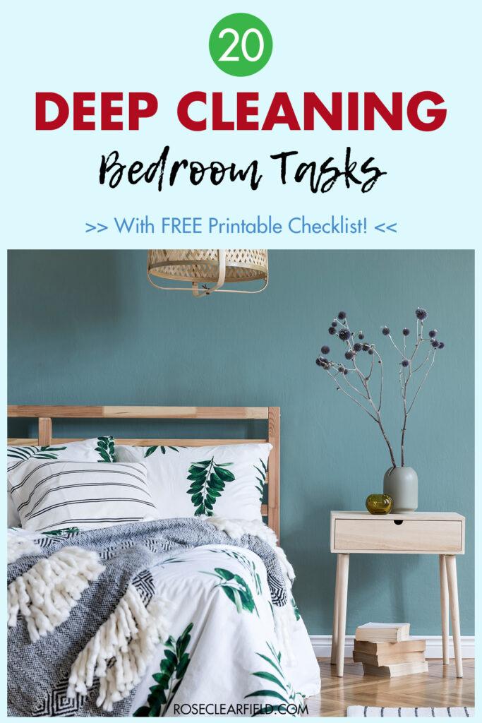 20 Deep Cleaning Bedroom Tasks