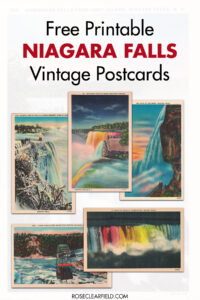 Free Printable Niagara Falls Postcards