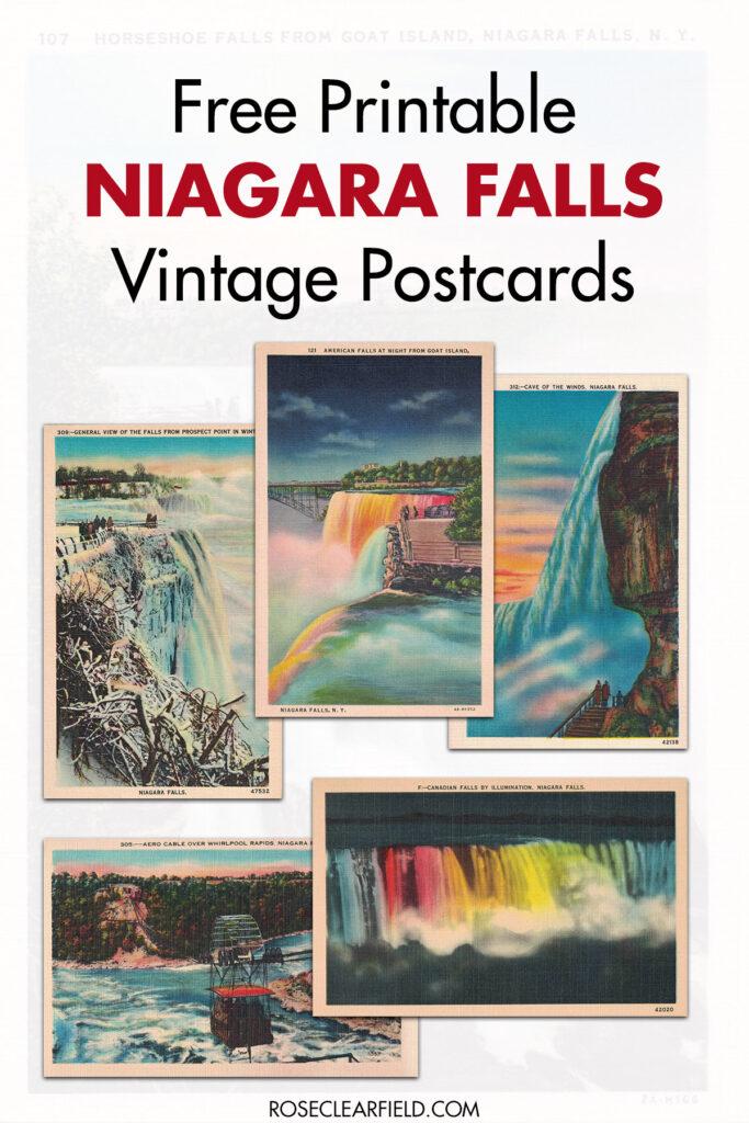 Free Printable Niagara Falls Postcards