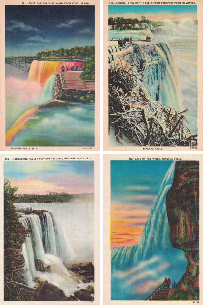 Free Printable Niagara Falls Postcards Collage