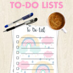 Free Printable Rainbow To-Do Lists