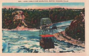 Vintage Postcard Aero Cable Over Whirlpool Rapids