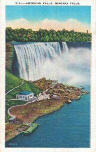 Vintage Postcard Niagara Falls American Falls