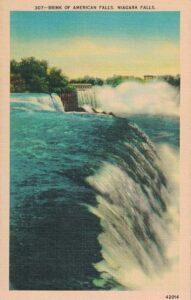 Vintage Postcard Niagara Falls Brink of American Falls