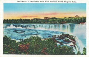 Vintage Postcard Niagara Falls Brink of Horseshoe Falls from Terrapin Point