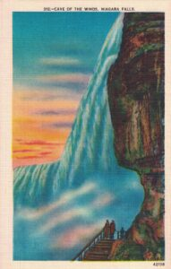 Vintage Postcard Niagara Falls Cave of the Winds