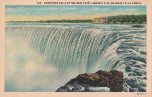 Vintage Postcard Niagara Falls Horseshoe Falls of Niagara from Canadian Side