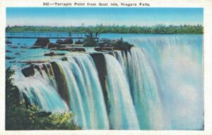 Vintage Postcard Niagara Falls Terrapin Point from Goat Isle