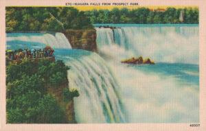 Vintage Postcard Niagara Falls from Prospect Park