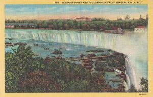 Vintage Postcard Terrapin Point and the Canadian Falls