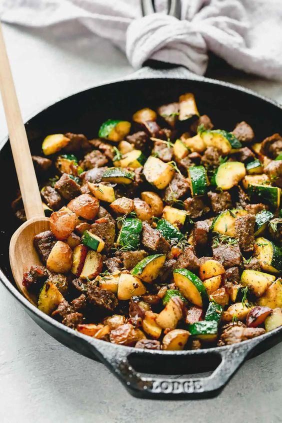Beef and Zucchini Skillet Primavera Kitchen