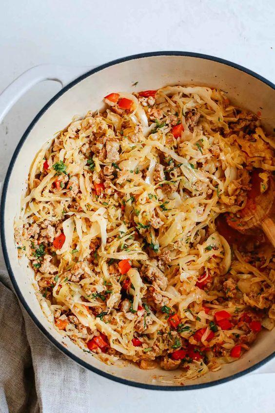 Cabbage and Sausage Skillet Primavera Kitchen