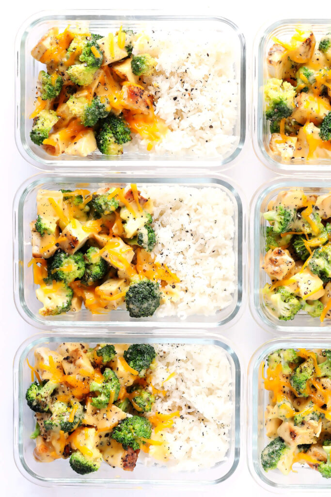 Cheesy Broccoli Cheddar Chicken and Rice Bowls Gimme Some Oven