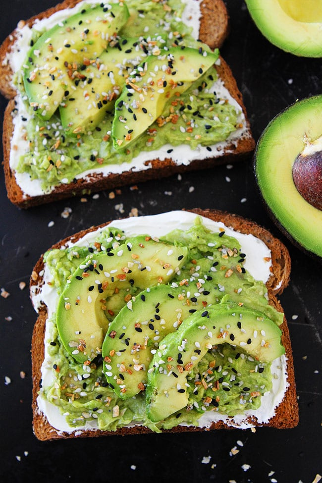 Everything Bagel Avocado Toast Two Peas and Their Pod