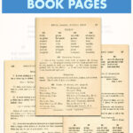 Free Printable Vintage Spelling Book Pages