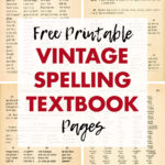 Free Printable Vintage Spelling Textbook Pages