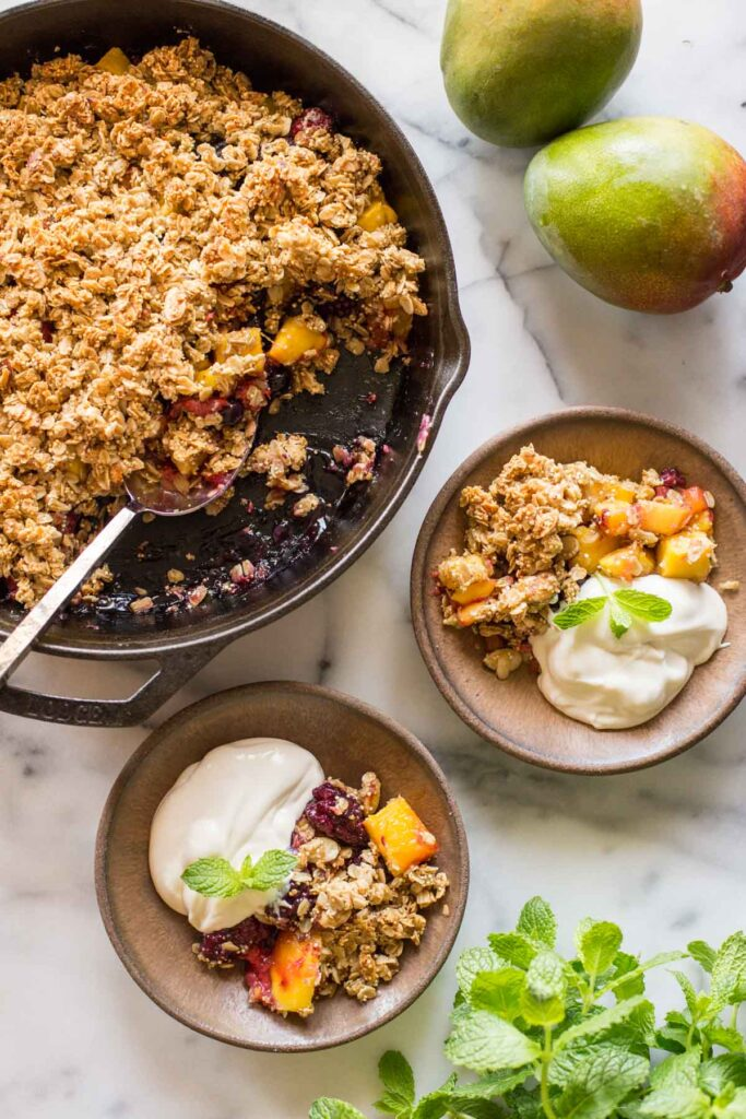 Mango Berry Breakfast Crisp Lovely Little Kitchen