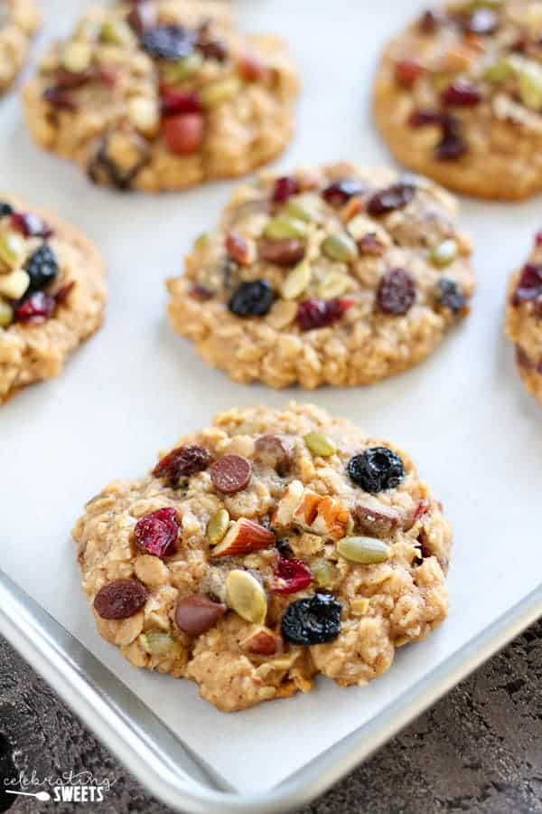 Oatmeal Trail Mix Cookies Celebrating Sweets