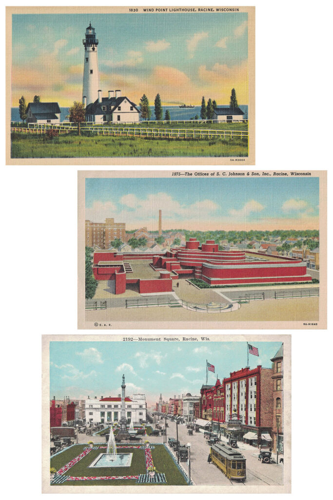 Racine Wisconsin Vintage Postcards Collage