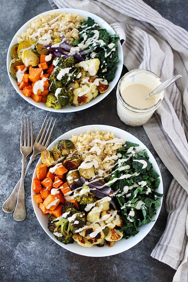 Roasted Vegetable Quinoa Bowls Two Peas and Their Pod