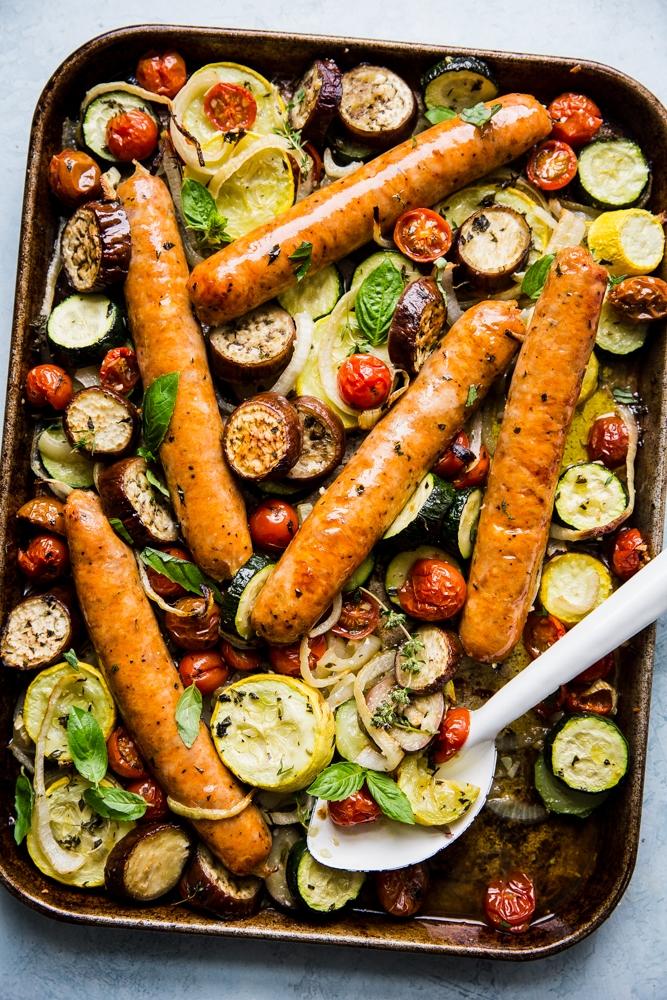 Sheet Pan Ratatouille With Sausage The Modern Proper