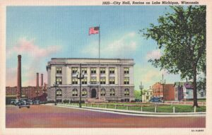 Vintage Postcard Racine City Hall