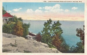 Vintage Postcard Racine Lake Michigan from 8th Street
