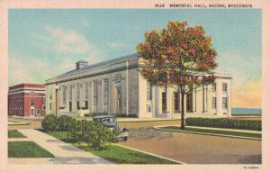Vintage Postcard Racine Memorial Hall