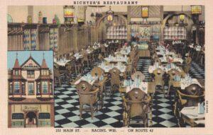 Vintage Postcard Racine Richter's Restaurant