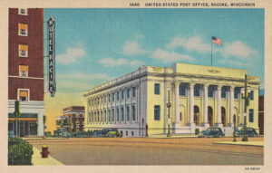 Vintage Postcard Racine United States Post Office