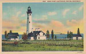 Vintage Postcard Racine Wind Point Lighthouse