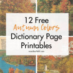 12 Free Autumn Colors Dictionary Page Printables